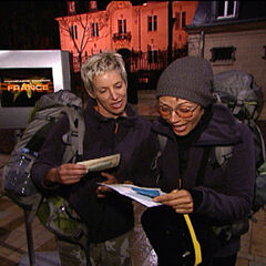 Carol &amp; Brandy counting their money at the beginning of the <a href=