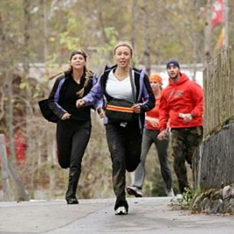 Preston &amp; Jennifer running behind <a href=