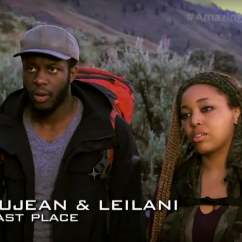 Dujean & Leilani were eliminated from the race in 5th place after an injury sustained by Leilani at the Roadblock left them unable to complete the Detour.