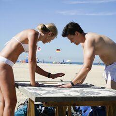 Kelsey &amp; Joey doing the <i>Sand</i> <a href=