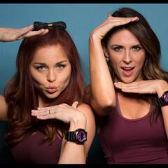 An alternate promotional photo of Erin &amp; Joslyn for <i>The Amazing Race</i>.