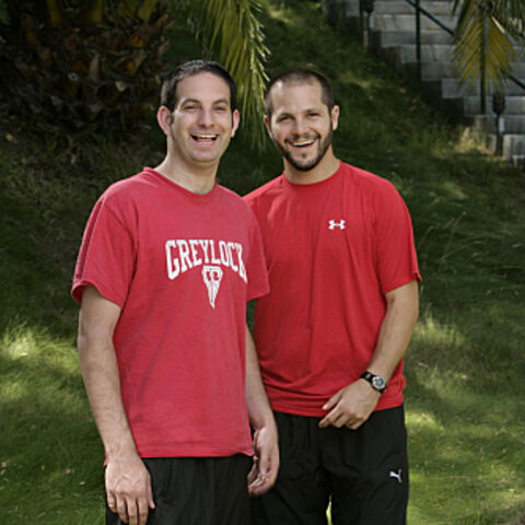 An alternate promotional photo of Zev &amp; Justin for <i>The Amazing Race</i>.]