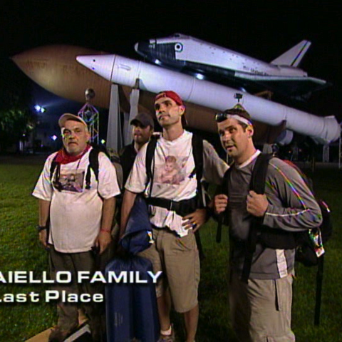 The Aiellos were eliminated from the race in 8th place.