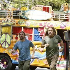 James &amp; Abba running to the <a href=