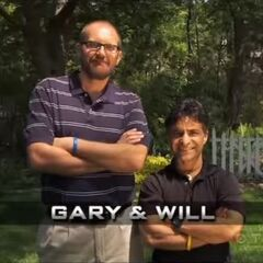 Gary & Will's opening pose