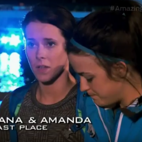 Dana & Amanda were eliminated from the race in 10th place.