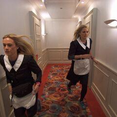 Caroline & Jennifer as Hotel Service.