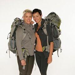 Carol &amp; Brandy's alternate promotional photo for <i>The Amazing Race</i>.