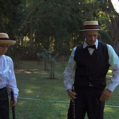 Justin &amp; Diana doing the <i>Croquet</i> <a href=