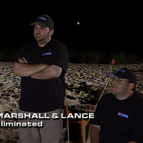 Marshall & Lance quit the race in 7th place due to Marshall's aching knees
