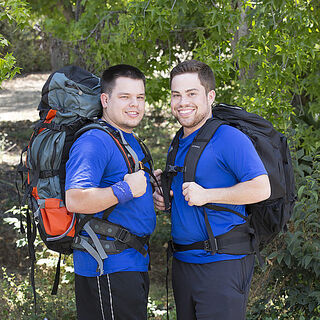 An alternate promotional photo of Alex &amp; Adam for <i>The Amazing Race</i>.