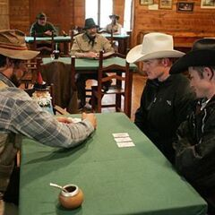 Jet &amp; Cord playing Five-card stud during <a href=