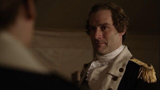 File:George Washington discusses the Culper Ring with Benjamin Tallmadge and Caleb Brewster – Turn - Washington's Spies.jpg