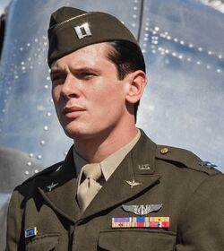 Louis Zamperini played by Jack O'Connell in Unbroken