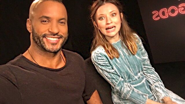 File:Ricky whittle emily browning bts.jpg