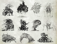 Ruin enemies concept art