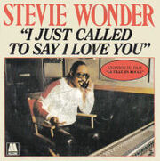 Stevie Wonder I Just Called To Say I Love You cover