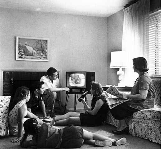 File:Family watching television 1958.jpg