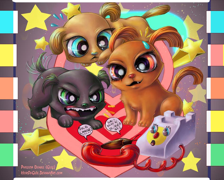 Powerpuff pups by heirofglee-d52ski7
