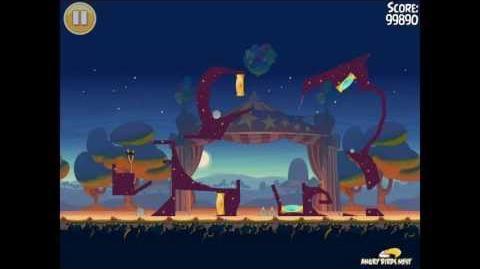 """Angry Birds Seasons Abra-ca-Bacon Golden Egg 43 Walkthrough """"Juggling Pin"""""""