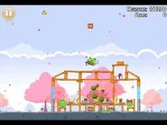 Official Angry Birds Seasons Walkthrough Hogs and Kisses 1-2