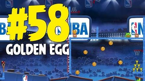 Angry Birds Seasons Ham Dunk All Star Golden Egg 58 Walkthrough