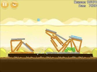 Official Angry Birds Walkthrough Mighty Hoax 5-18