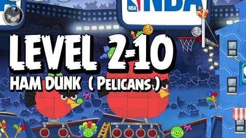 Angry Birds Seasons Ham Dunk 2-10 - Pelicans - Walkthrough 3 Star
