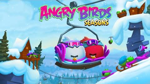 NEW Angry Birds Seasons Update – Ski or Squeal!