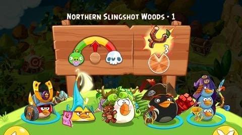 Angry Birds Epic Northern Slingshot Woods Level 1 Walkthrough