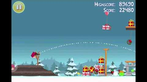 "Angry Birds Seasons Season's Greedings Golden Egg 2 Walkthrough ""Big Present"""
