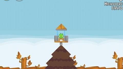 Angry Birds Level 2 Power Up University King Sling Walkthrough 3 Star