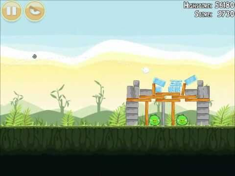 Official Angry Birds Walkthrough Poached Eggs 2-12