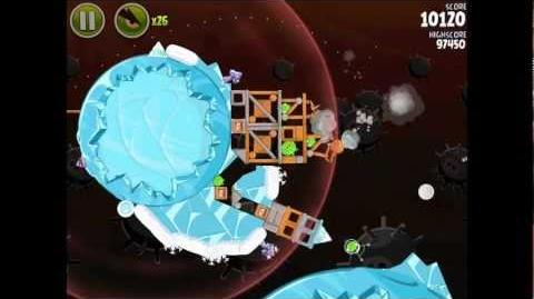 Angry Birds Space Danger Zone Level 22 Walkthrough 3 Star