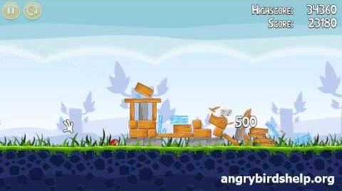 Angry Birds Level 1-9 - 3 Star Walkthrough