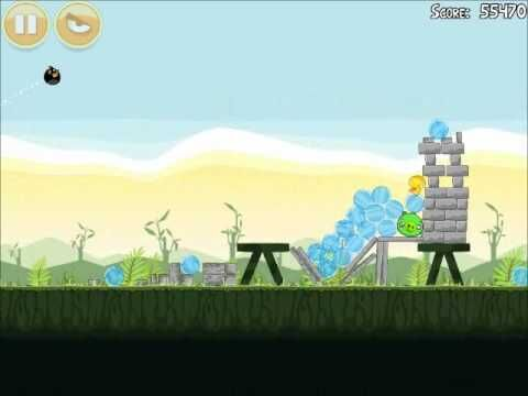 Official Angry Birds Walkthrough Poached Eggs 2-11