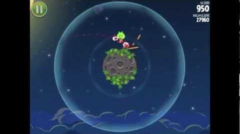 Angry Birds Space Pig Bang 1-1 Walkthrough 3-star