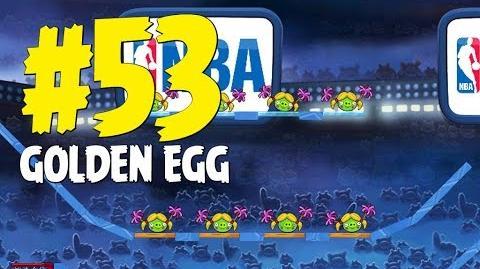 Angry Birds Seasons Ham Dunk Golden Egg 53 Walkthrough