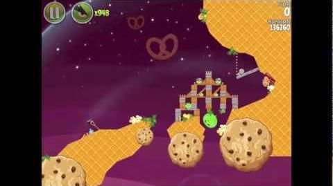 Angry Birds Space E-8 Utopia Golden Eggsteroid (Egg) 8 Walkthrough 3 star