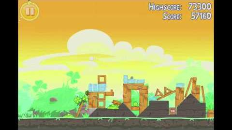 Angry Birds Seasons Go Green, Get Lucky 3 Star Walkthrough Level 6