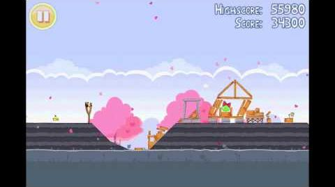 Angry Birds Seasons Hogs & Kisses 3 Star Walkthrough Level 9