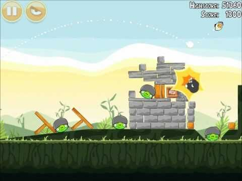 Official Angry Birds Walkthrough Poached Eggs 2-20