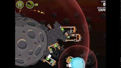 Angry Birds Space Danger Zone Level 14 Walkthrough 3 Star