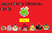 Angry birds ultimate birds main screen