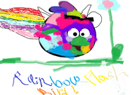 Rainbow flash bird