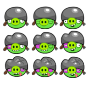 Small helmet pig sprites by chinzapep-d57z4bs