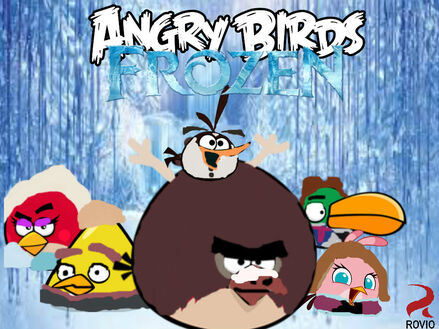 Angry birds frozen poster