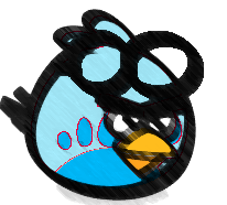 File:Blue Goggle Bird Sketch.png