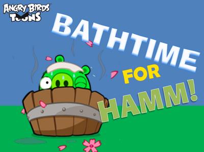 Bathtime For Hamm! Title Card