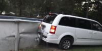 ANGRY GRANDPA DRIVES INTO SWIMMING POOL!!
